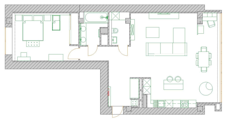 планировка квартиры в стиле минимализм