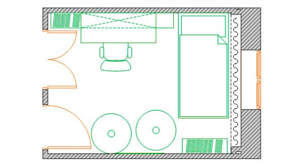 план расположения мебели в детской комнате