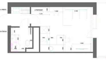 план квартиры стдии